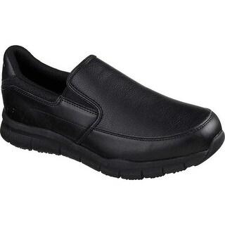 Skechers Men's Work Relaxed Fit Nampa Groton Slip Resistant Shoe Black
