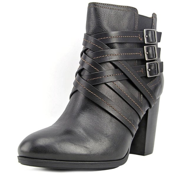 Sofft Arminda Women Round Toe Leather Black Ankle Boot