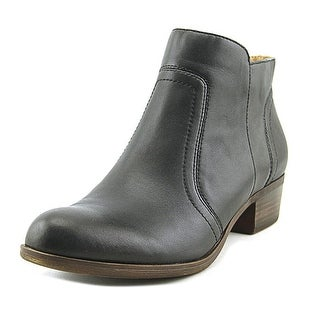 Lucky Brand Breck Women Round Toe Leather Black Bootie
