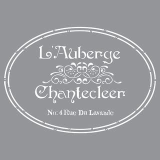 """Americana Decor Stencil 12""""X12""""-The French Inn