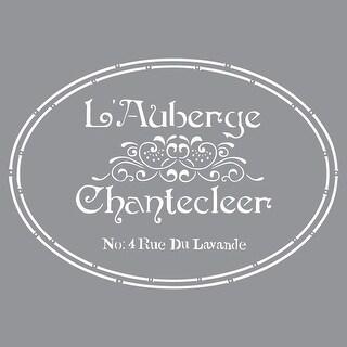 "Americana Decor Stencil 12""X12""-The French Inn"