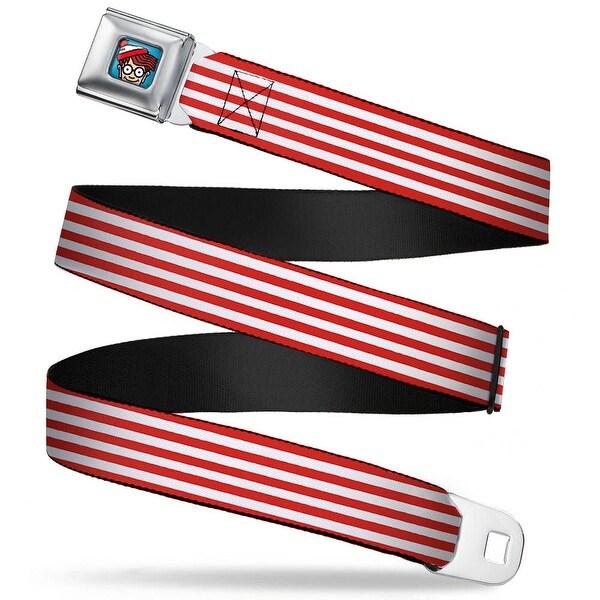 Waldo Bottom Crop Full Color Blue Waldo'S Sweater Stripes Red White Webbing Seatbelt Belt