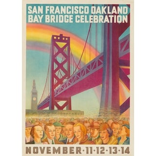 San Fran Oakland Bay Bridge Celebration Forster (100% Cotton Towel Absorbent)