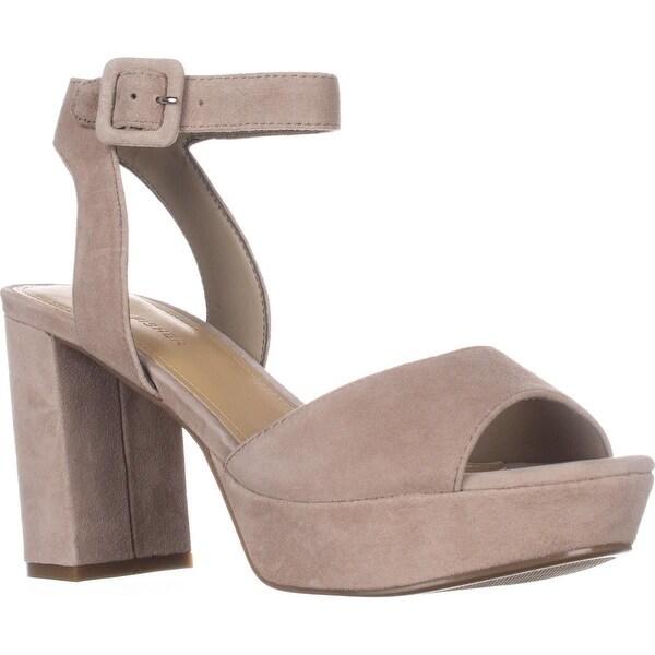 Marc Fisher Meliza Platform Ankle Strap Sandals, Taupe
