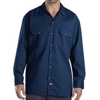 Dickies NEW Dark Navy Blue Mens Size Medium M Dual Pocket Work Shirt