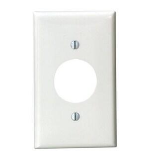Leviton 002-80704-00W Power Outlet Wall Plate, Thermoplastic Nylon, White