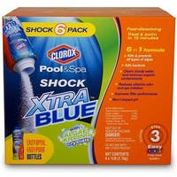 Clorox 33006CLX Pool&Spa XtraBlue Shock Plus, 6 Lbs