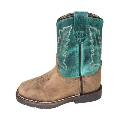 Smoky Mountain Western Boots Boys Autry Leather Pull On Brown
