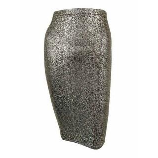 Material Girl Juniors' Metallic Foil Pencil Skirt