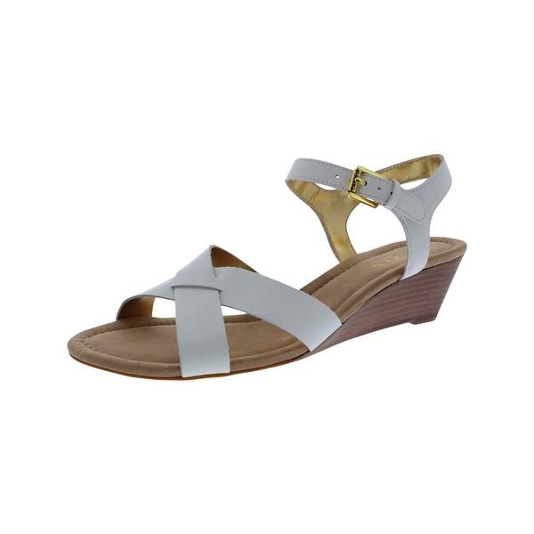 Lauren Ralph Lauren Womens Laurissa Wedge Sandals Leather Open Toe - 9.5 medium (b,m)