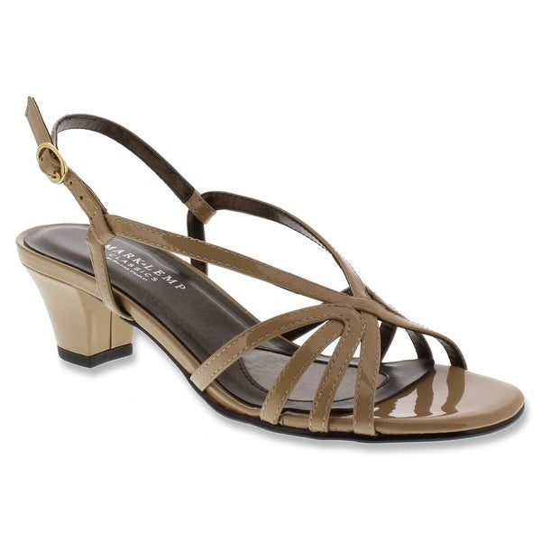Mark Lemp NEW Beige Nude Shoes Size 6W Strappy Leather Heels