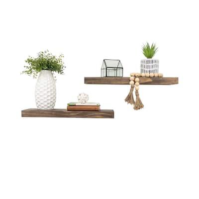 "Del Hutson Designs True Floating Shelves, Set of 2, 20"""