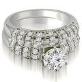 1.60 cttw. 14K White Gold Antique Round Cut Diamond Bridal Set - Thumbnail 0