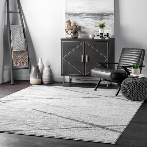 nuLOOM Trellis Stripes Grey Rug