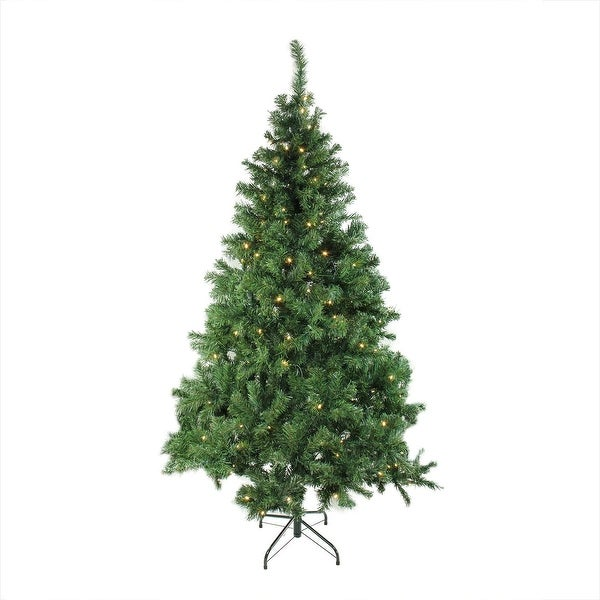"6' x 42"" Pre-Lit Mixed Classic Pine Medium Artificial Christmas Tree - Warm Clear LED Lights"