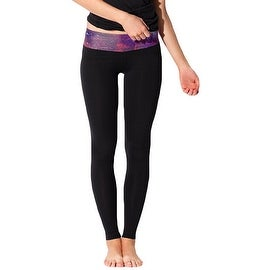 New Women's Black Print Gym Running Yoga Pants High Rise Stretch Leggings Sweatpants Trousers