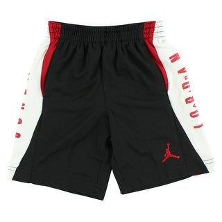 Jordan Boys Jumpman Stripe Shorts Black - Black/Red/White - 4t