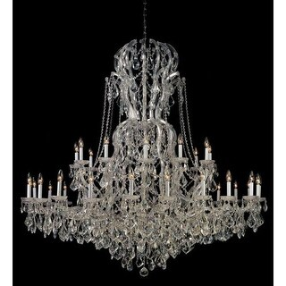"Crystorama Lighting Group 4460-CL-S Maria Theresa 37 Light 64"" Wide Chandelier w"