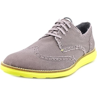 Cole Haan Original Grand Wtip Men Round Toe Canvas Gray Oxford