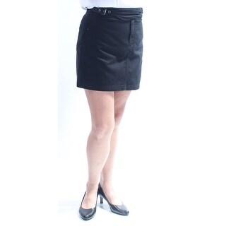 Womens Black Mini Pencil Skirt Size 8