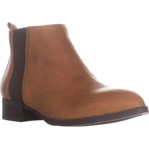 Nine West Nolynn Ankle Booties, Cognac/Dark Brown