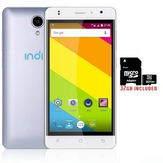 "Indigi 4G LTE SmartPhone 5"" IPS Android 6.0 2Sim AT&T T-Mobile Unlocked + 32gb Included - White"