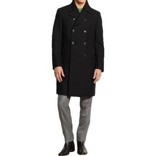 Kenneth Cole New York Mens Pea Coat Wool Blend Long Sleeves