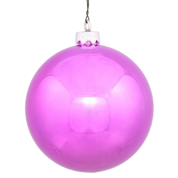 "Shiny Orchid UV Resistant Commercial Drilled Shatterproof Christmas Ball Ornament 2.75"" (70mm) - PInk"