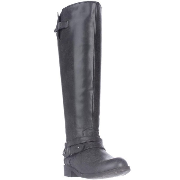 madden girl Canyonwc Riding Boots, Black