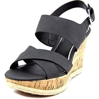 American Living Adrina Women  Open Toe Synthetic Black Wedge Sandal