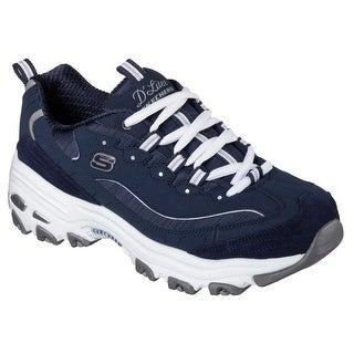 Skechers Sport Women's D'lites Me Time Fashion Sneaker, Me Time Navy/White - me time navy