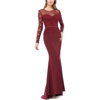 Link to JS Collections Womens Evening Dress Lace Illusion Similar Items in Dresses