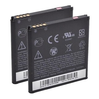 New Replacement Battery HTC 35H00164-00M BG86100 BLI 1210-1.5 2 Pack