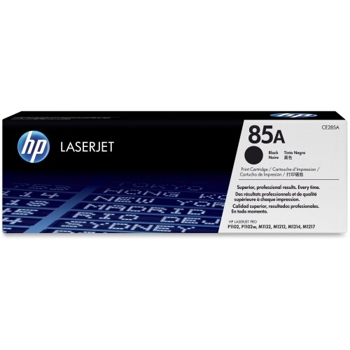 HP 85A Black Original LaserJet Toner Cartridges (CE285A)(Single Pack)