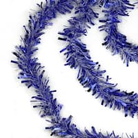 50' Festive Blue and White Christmas Hanukkah Tinsel Garland - Unlit - 6 Ply (Pack of 3)