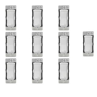 Leviton Decora Smart Wi-Fi 600W Universal LED/Incandescent 300W Dimmer (10 Pack) - White