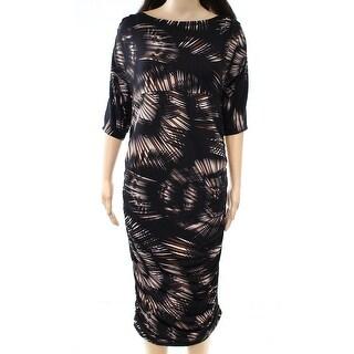 Lilac Clothing Black Women's Size Medium M Ruched Maxi Dress