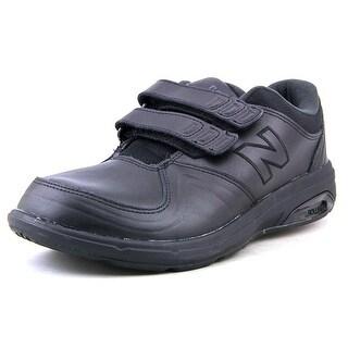 New Balance W813 Women B Round Toe Leather Black Walking Shoe