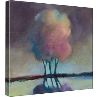 "PTM Images 9-99560  PTM Canvas Collection 12"" x 12"" - ""Misty Trees"" Giclee Rural Art Print on Canvas"