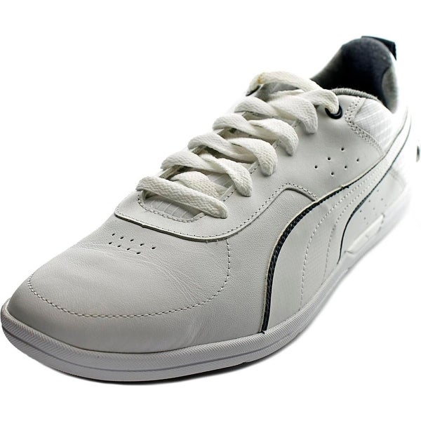 Puma BMW MS MCH Lo Men Round Toe Leather White Sneakers
