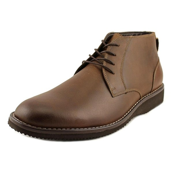 Dockers Merritt Memory Foam Boots Men  Round Toe Leather Tan Boot
