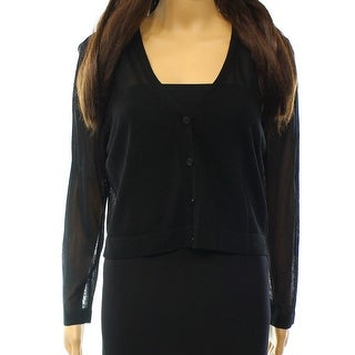 Lauren Ralph Lauren NEW Black Womens Size Large L Knit Cardigan Sweater