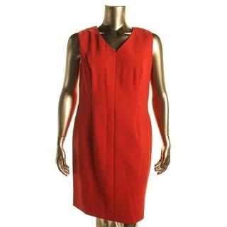 Hugo Boss Womens Sleeveless Knee-length Wear to Work Dress - 14