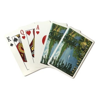 Lake Arrowhead, California - View towards the North Shore - Lantern Press Artwork (Poker Playing Cards Deck)