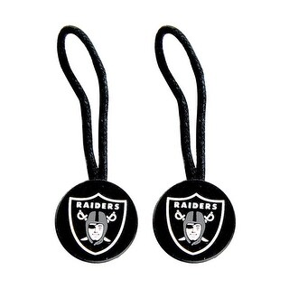 Oakland Raiders NFL Zipper Pull Pet id Luggage Bag Tag - 2 Pack