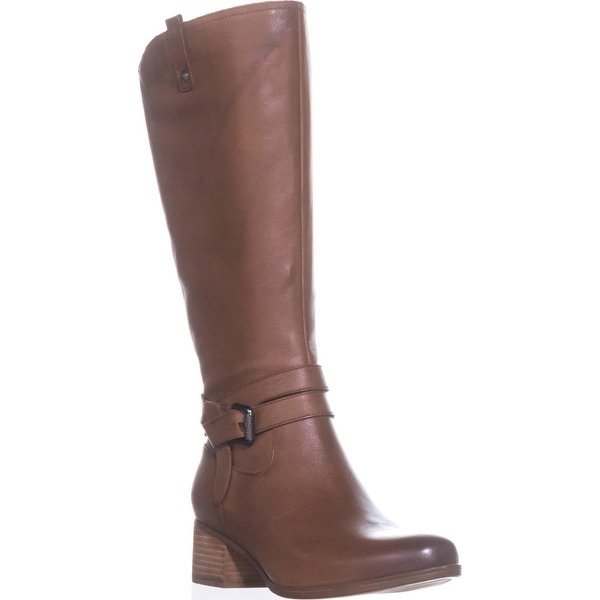 naturalizer Dev Wide Calf Riding Boots, Saddle Tan - 11 us / 41 eu