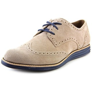 Cole Haan Lunargrand Wing Tip Wingtip Toe Suede Oxford