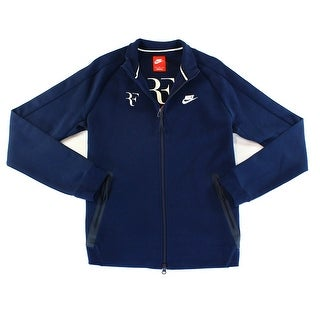 Nike NEW Obsidian Blue Mens Medium M Mock Neck Quarter Zip Jacket