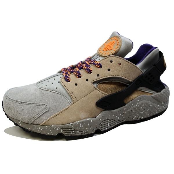 683267daad28 Shop Nike Men s Air Huarache Run Premium Linen Golden Beige-Black ...