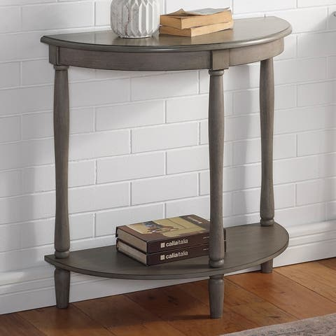 Furniture of America Landree French Country Demi Round Entryway Table